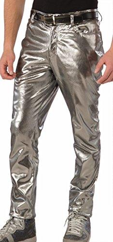 (Forum Mens Futuristic Silver Pants)