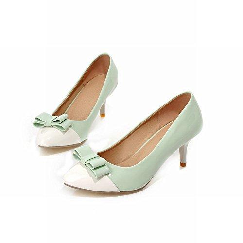 Shoes Stiletto Heel Bows Women's Charm Court High Lady Carol Green Shoes RTgqCSdS