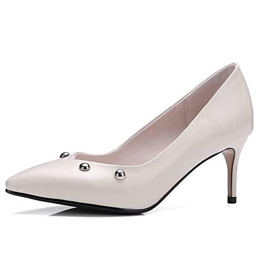 Nine SevenKnee-high-boots - Sandalias con cuña mujer Beige