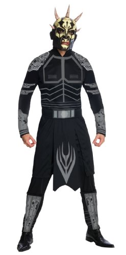(Star Wars Clone Wars Adult Savage Opress Costume And Mask, Black,)