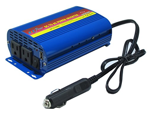 BiXPower 12V DC to 110V AC 150W True Pure Sine Wave Fanless Quiet Power Inverter - 150NS