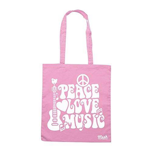 Borsa Peace Love & Music Woodstock - Rosa - Music by Mush Dress Your Style