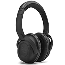 Juboury Solace Battery Active Noise Canceling Headphones Over-ear Headsets for IOS,Smasung Andorid Phones,Tablets,Portable Music Players,Laptop PC,In-flight Entertainment Devices with Carrying Case