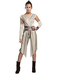 Star Wars Episode VII: The Force Awakens Deluxe Adult Rey Costume, Multi, Large