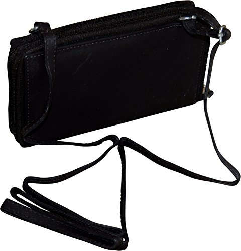 Black Clutch Wallet Paul Zipper Double Women's Leather amp; amp; Taylor Bag Crossbody 7w7OxfP