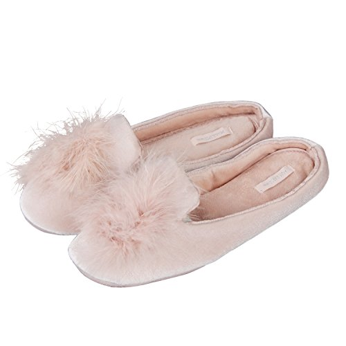 Home Sole Girls House CHICLILY Antiskid Slippers Ball Cute Bath Pink Womens On Indoor Slide Rubber Spa Slip TnqH8w
