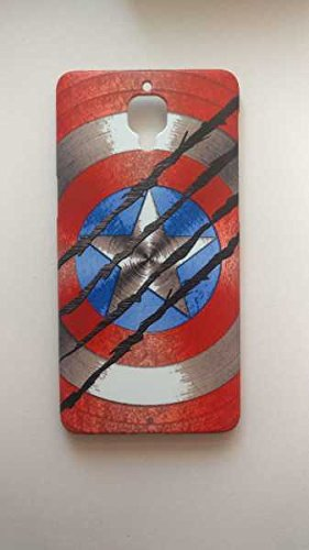 Black Panther Scratches Captain America Shield Case For One Plus 3 3t Amazon In Electronics