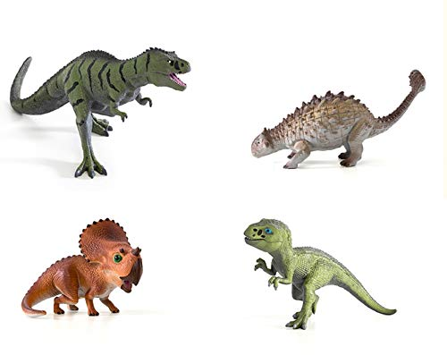 Toy Tron Dino King 3D Animation Journey to Fire Mountain Dinosaur Figures Figurines Toy Set (Count of 4)