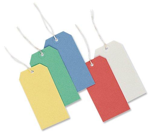 Merit Strung Tags Bulk Boxes White [Pack of 1000]