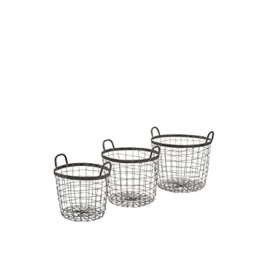 IMAX Metro Wire Baskets, Set of 3