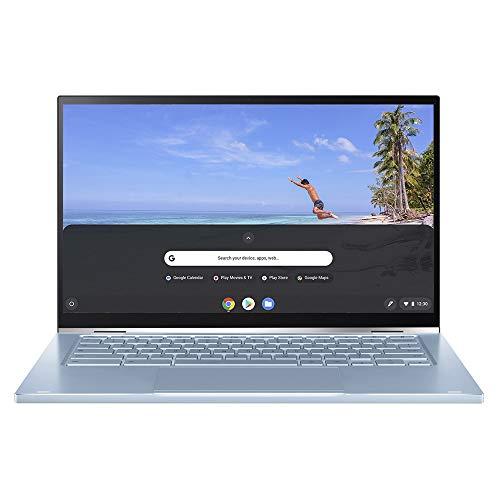 ASUS C433 Full HD 14 Inch Touchscreen ChromeBook Flip (Intel M3-8100Y Processor, 64 GB eMMC Storage, 4 GB RAM, Chrome OS…