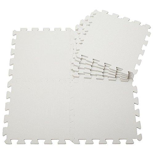 20pcs, Black /& White Menu Life Soft Play Mats for Kids Pure Colour EVA Foam Mats Flooring Jiasaw Puzzle Mats