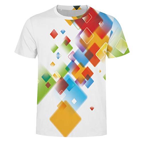 3D Printing Tees Beautyfine Fashion Mens Splash-Ink Shirt Short Sleeve T-Shirt Blouse Tops ()