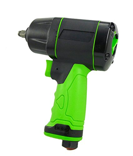 Dynamic Power 3/8'' Air Impact Wrench 480 ft-lb of torque. Bulit-in Power Regulartor to Control Speed and Torque. D-63061 (Best 3 8 Impact Gun)