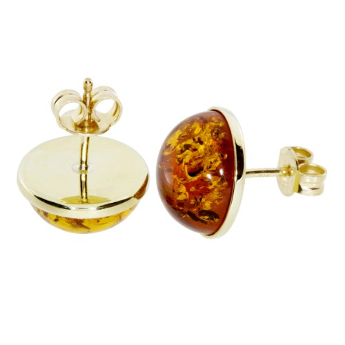 In Collections - 1000160621L100 - Boucles d'oreille Femme - Or jaune 333/1000 (8 cts) - ambre