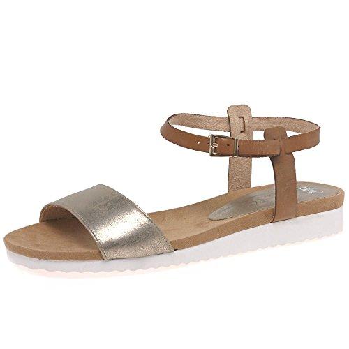 Caprice–Sandalias para mujer de la piscina - Cognac/Bronze