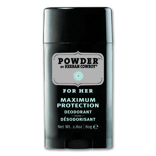 Pack of 3 x Herban Cowboy Deodorant Powder Scent - 2.8 oz