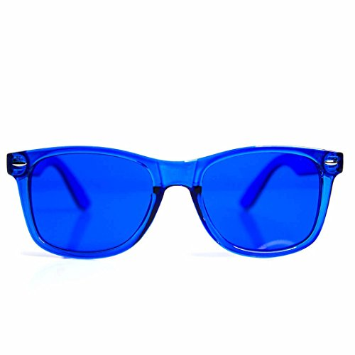 GloFX Blue Color Therapy Glasses Chakra Glasses Relax ()