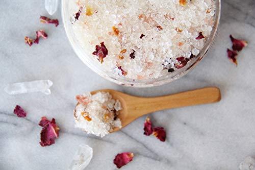 Orange Peel & Rose Bath Salts - All Natural, Organic, Citrus Bath Salts, Floral Bath Salts, Herbal Bath Soak, 10 ounces