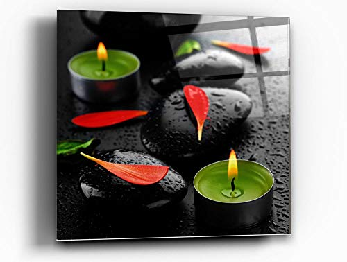 Epic Graffiti Spa Rocks 4 Tempered Glass Wall Art - Zen Wall Decor