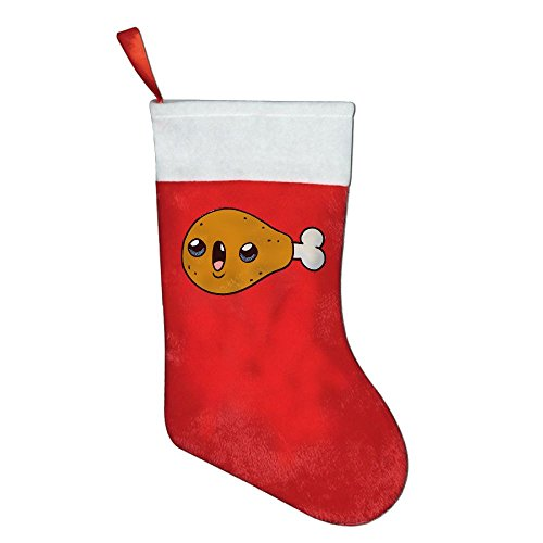 Christmas Holiday Stockings Chicken Red Felt Festival Party Ornaments