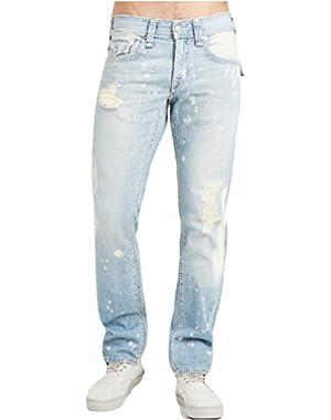 Men's Straight Mega T Jean w/ Flaps in Blue Typhoon