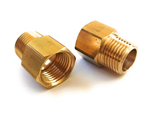 (2-pack) Brass Pipe Fitting, NPT Adapter, 1/2
