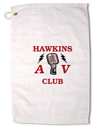 TooLoud Hawkins AV Club Premium Cotton Golf Towel - 16'' x 25''