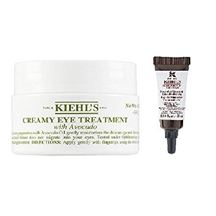 Creamy Eye Treatment with Avocado 0.5 oz (0.5) with a Travel Size Powerful Strength Line-Reducing Eye-Brightening Concentrate 3 ml
