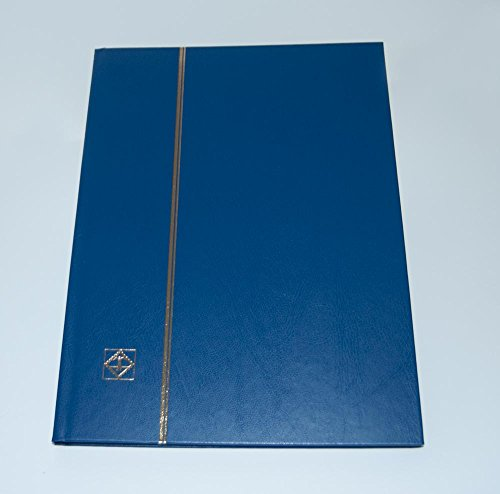 (Lighthouse Hardcover Stamp Album Stockbook with 16 Black Pages, Blue, LS4/8)