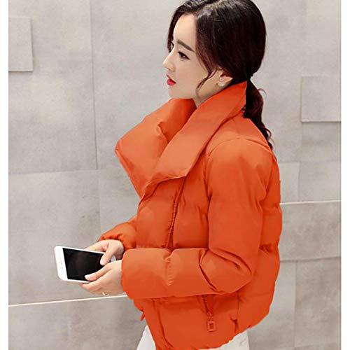 Irregolare Casual Invernale Piumino L'auto Moda Leggero coltivazione Camicetta Veste Orange Versione Femme Guxiu Top Cotone AqwvIn