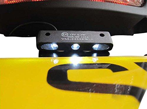 Trike Quattro Universale Led Luce Portatarga Moto Moto