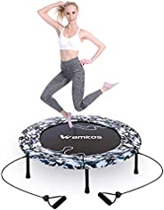 """2021 Upgraded Wamkos 40"""" Rebounder Mini Exercise Trampoline for Adults Kids,Outdoor/Indoor Foldable Fitne"""
