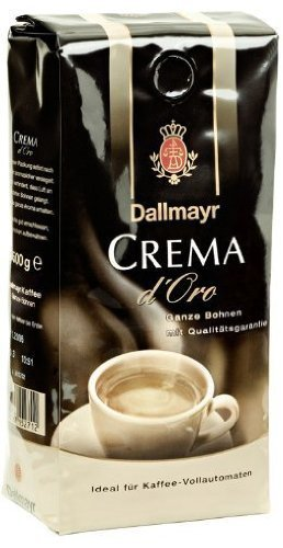 Dallmayr Crema D'oro Whole Beans Coffee 2 Packs X 17.6oz/500g by (Doro Whole Beans)