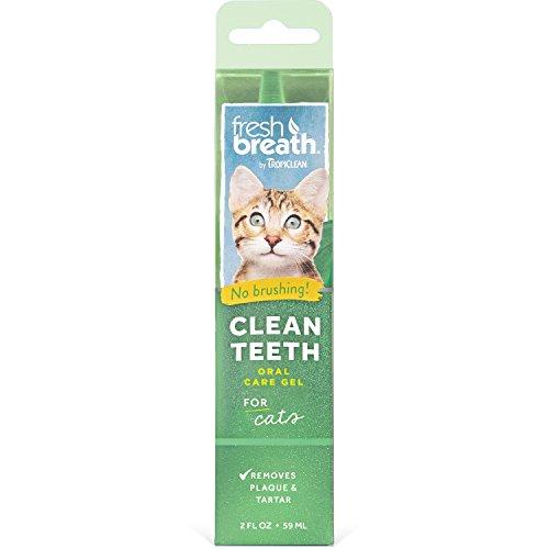 TropiClean Fresh Breath Clean Teeth Gel for Cats, 2oz, Made in USA