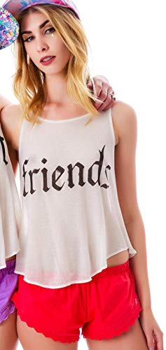 Wildfox Cassidy BFF Tank Friends Cream Size Medium