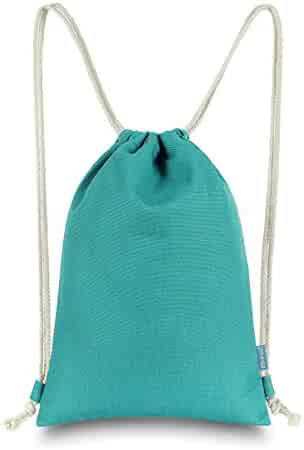 Miomao Drawstring Backpack Gym Sack Pack Solid Canvas Cinch Pack Sport  String Bag Christmas Gift Bag 2090931052f05