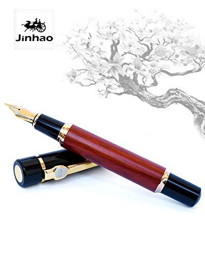 Jinhao 650 –  Penna stilografica –  goldwood piuma M