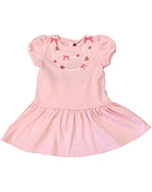 NWT Bow Heart Necklace Dress Sz 18-24 Mos