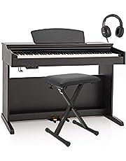 Piano Numérique DP-10X par Gear4music + Pack Accessoires Noir Mat