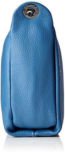 Mandarina Duck Mellow Leather Tracolla - Bolso de hombro Mujer azul (Midnight)