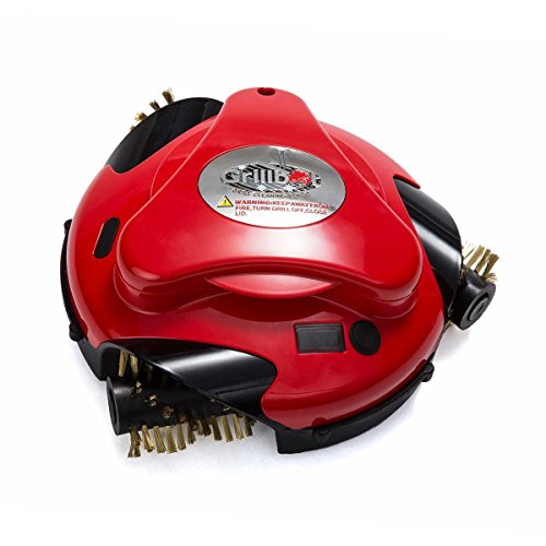 Grillbot Automatic Grill Cleaning Robot with Brass Brushes | BBQ Grill Cleaner | Grill Brush | Grill Scraper | BBQ Accessories | Red