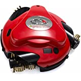 Grillbot Robotic Barbecue Grill Cleaner - Cleans Grill with Automatic Brass Brushes - Red