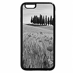 iPhone 6S Case, iPhone 6 Case (Black & White) - poppies and trees from the island