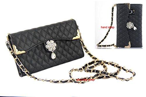 - Samsung Galaxy Note 8 Case Luxury Bling Diamond PU Leather Flip Wallet Card Holder Handbag Case Cover for Samsung Galaxy Note 8 (Handbag Black)