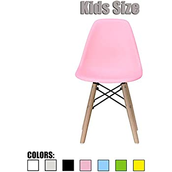Amazon.com: 2xhome - Pink - Kids Size Eames Side Chair Eames Chair ...