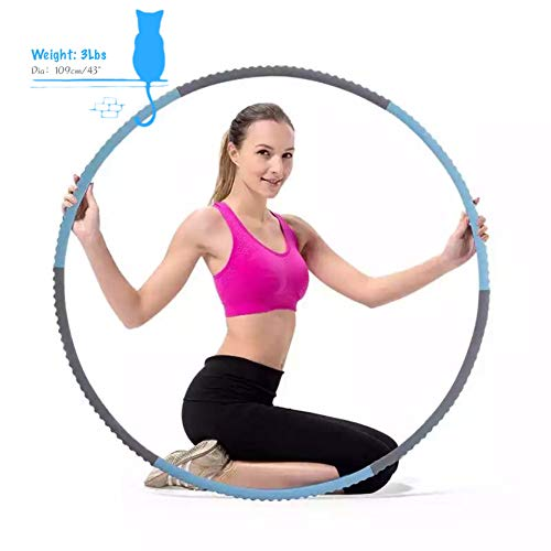 SMALAZAR HH33 Professional Lightweight Metal Foamed Hula Hoop Perfect for Dancing Fitness Exercise - Workouts for Adults and Kids - Simply The Funnest Way to Lose Weight (Dia:43