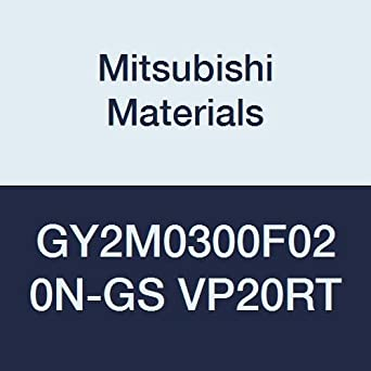 Pack of 10 0.118 Grooving Width F Seat 0.008 Corner Radius Mitsubishi Materials GY2M0300F020N-GS VP20RT Series GY Carbide Grooving Insert for Grooving//Cutting Off and Low Feeds 2 Teeth