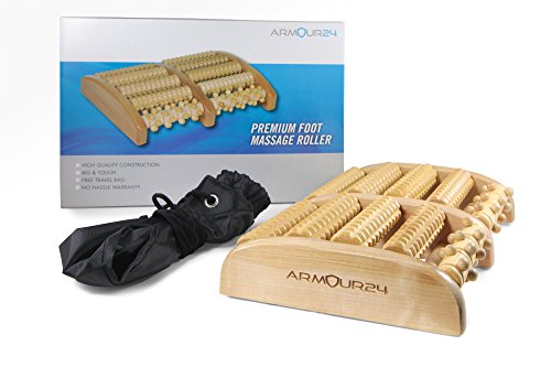 Premium-Large-Dual-Wood-Foot-Massager-Roller-with-Travel-Storage-Bag-Relieve-Plantar-Fasciitis-Foot-Pain-Reflexology-Acupressure-Massage-Chart