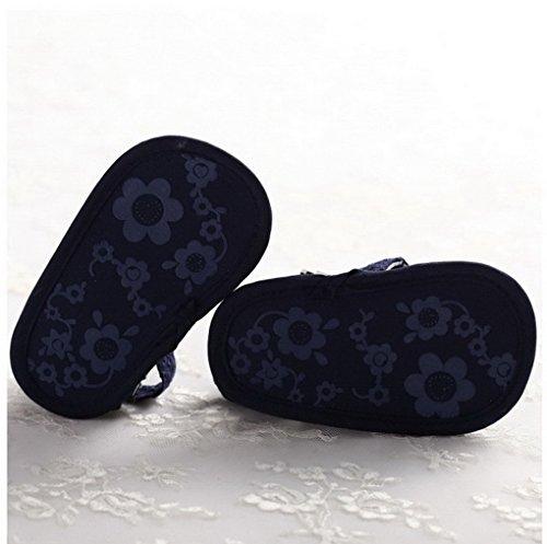 ACMEDE Babyschuhe Blume weiche Sandale Schuhe für Baby Mädchen Weiß 12cm Violett